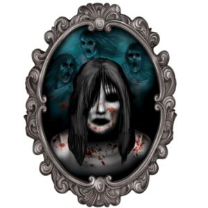 Ghost Girl 3D Mirror Decoration - Haunted House