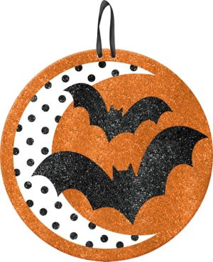 Glitter Bats Sign - Modern Halloween