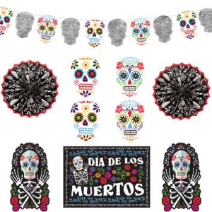 Sugar Skull Room Decorating Kit 10pc - Day of the Dead