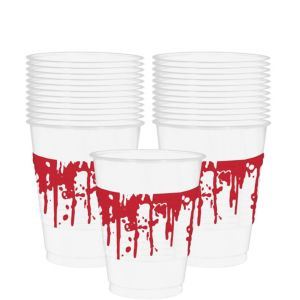 Blood Splatter Plastic Cups 25ct