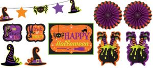 Halloween Room Decorating Kit 10pc - Witch's Crew