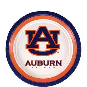 Auburn Tigers Dessert Plates 12ct