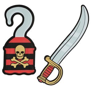 Child Foam Pirate Sword & Hook