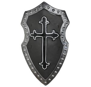 Black Cross Medieval Shield