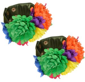 60s Hippie Flower Wrist Cuffs 2pc