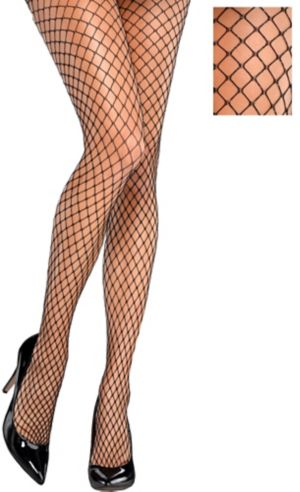 Black & Silver Diamond Fishnet Stockings