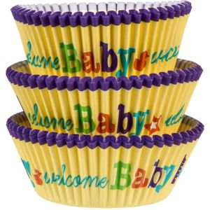 Welcome Baby Baking Cups 75ct