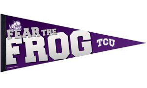 TCU Horned Frogs Pennant Flag