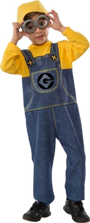 Child Minion Jumpsuit Costume Accessory Kit 3pc - Despicable Me