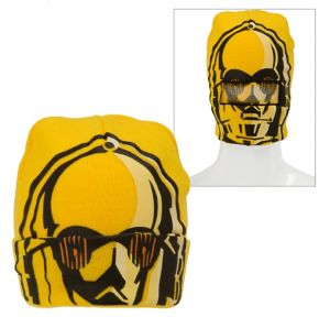 C-3PO Roll-Down Mask Beanie - Star Wars