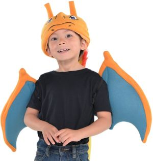 Child Charizard Costume Accessory Kit 3pc - Pokemon