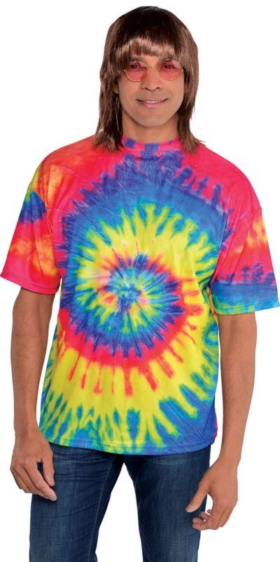 60s Hippie Tie Dye T Shirt Party City