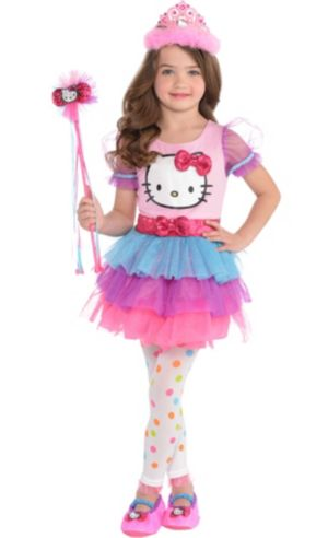 Child Rainbow Hello Kitty Tutu Dress