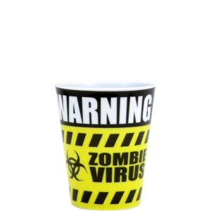 Warning Zombies Shot Glass