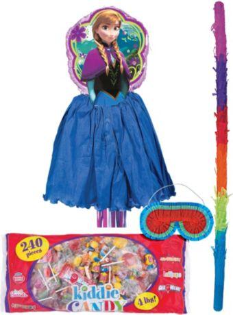 Pull String Anna Pinata Kit - Frozen