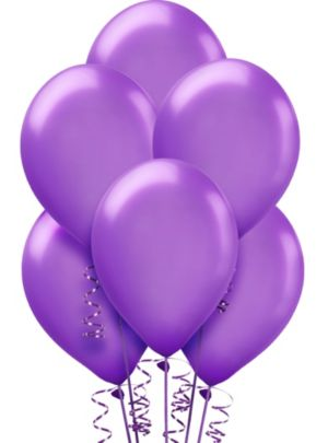 Purple Pearl Balloons 15ct