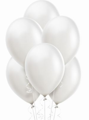 White Pearl Balloons 15ct