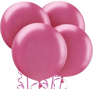 Bright Pink Balloons 4ct