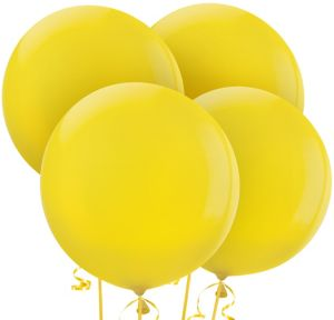 Yellow Balloons 4ct