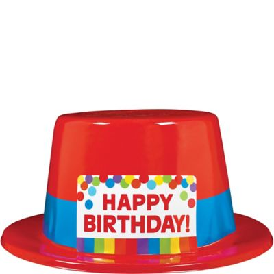 Rainbow Birthday Top Hat 5in