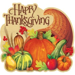 Happy Thanksgiving Cornucopia Cutout