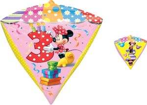 3rd Birthday Minnie Mouse Balloon - Diamondz