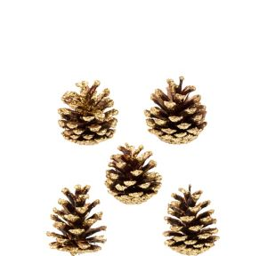 Glitter Cinnamon-Scented Pinecones 5ct