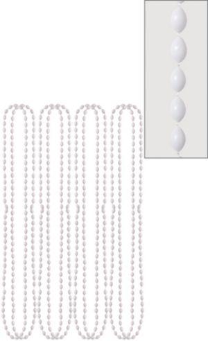 White Bead Necklaces 8ct