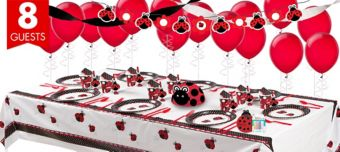 Fancy Ladybug Super Party Kit for 8 Guests