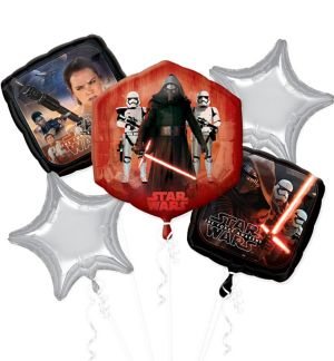 Star Wars 7 The Force Awakens Balloon Bouquet 5pc