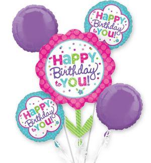 Pastel Birthday Balloon Bouquet 5pc