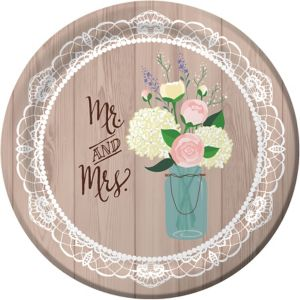 Rustic Wedding Dinner Plates 8ct