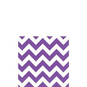 Purple Chevron Beverage Napkins 16ct