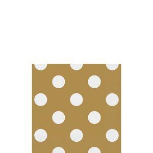 Gold Polka Dot Beverage Napkins 16ct