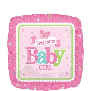 Girl Welcome Baby Balloon - Welcome Little One