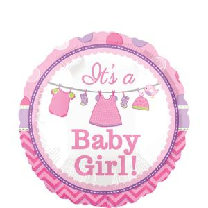Girl Baby Shower Balloon - Shower with Love