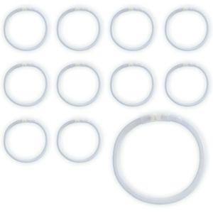 White Glow Bracelets 36ct