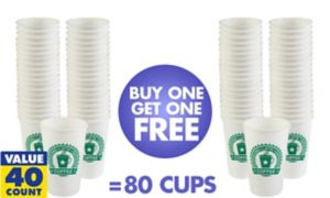 BOGO Coffeehouse Paper Coffee Cups 40ct