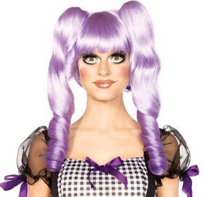 3-in-1 Dolly Bob Purple Doll Wig