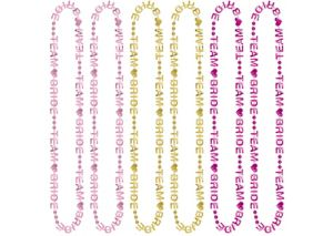 Team Bride Bead Necklaces 6ct