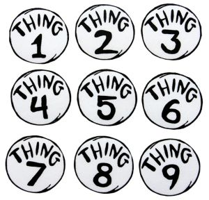 Thing 1 to Thing 9 Patches - Dr. Seuss