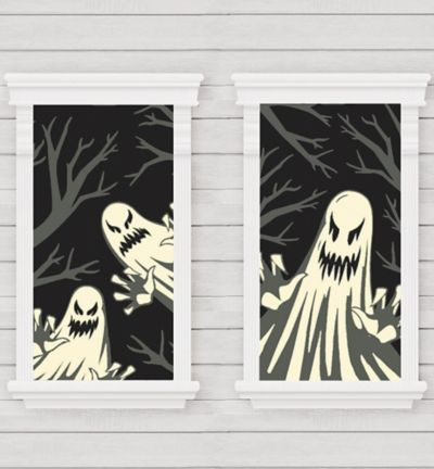 Ghost Window Decorations 2ct