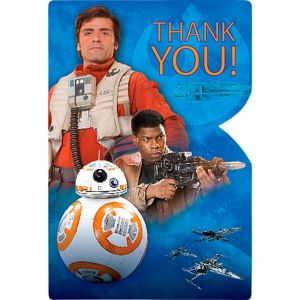 Star Wars 7 The Force Awakens Thank You Notes 8ct