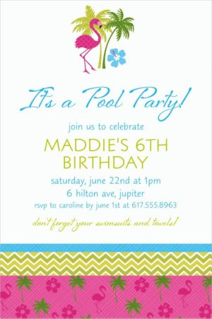 Custom Flamingo Fun Invitations