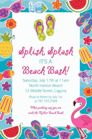 Custom Summer Fun Invitations