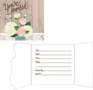 Rustic Wedding Invitations 8ct