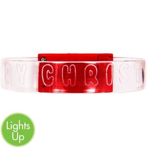 Light-Up Merry Christmas Bracelet