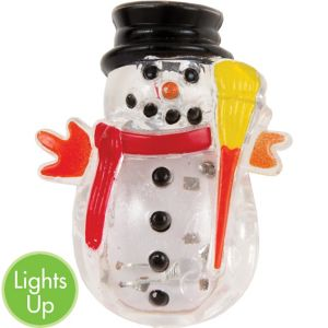 Light-Up LED Snowman Pin
