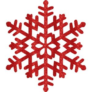 Glitter Red Snowflake