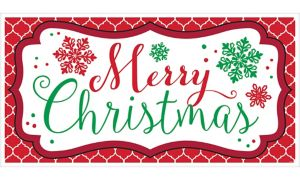 Merry Christmas Banner - Modern Christmas